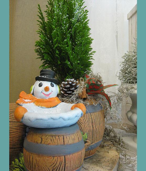 Χιονάνθρωπος με βαρέλι