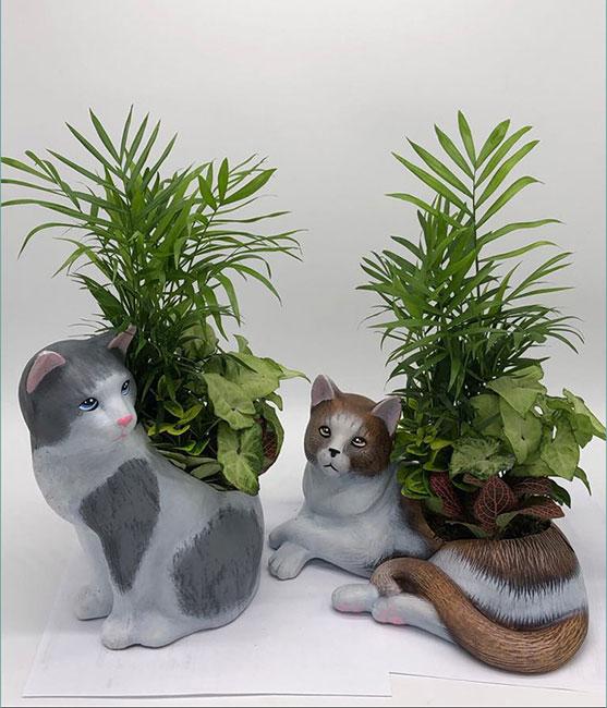 Γάτα όρθια Β / Γάτα ξαπλωτή Β